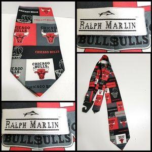 Ralph Marlin Men Necktie Chicago Bulls Teams Red